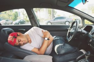 passed out in car after drinking